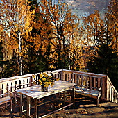 Станислав Жуковский, На веранде. Осень