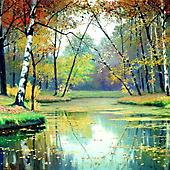 Е. Волков, Осенний пейзаж